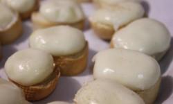 tostas de queso encebollado