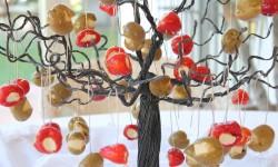 arbolito con pimientos cherry rellenos y gordales rellenas de queso