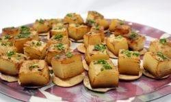 crujiente milhojas de patatas