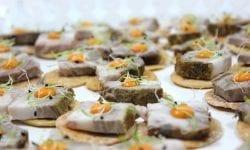 mini tosta de chicharrón de Cádiz