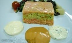 pastel de pescado frio a las tres salsas