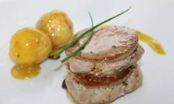 timbal de solomillo al foie con parisinas al estilo mozarabe