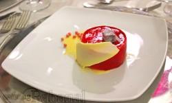 Mousse de chocolate blanco