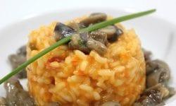 arroz meloso con champiñones y setas
