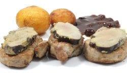 solomillo de cerdo con foie, parisinas y salsa pedro ximenez