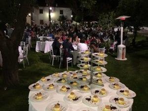 celebración de catering para bodas