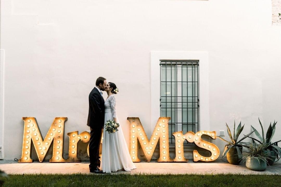 letras iluminadas para bodas