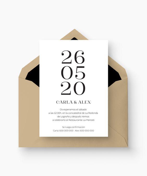 invitacion minimalista