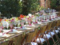 mesas del catering