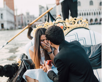 pedida de mano en venecia
