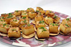 Crujiente milhojas de patata